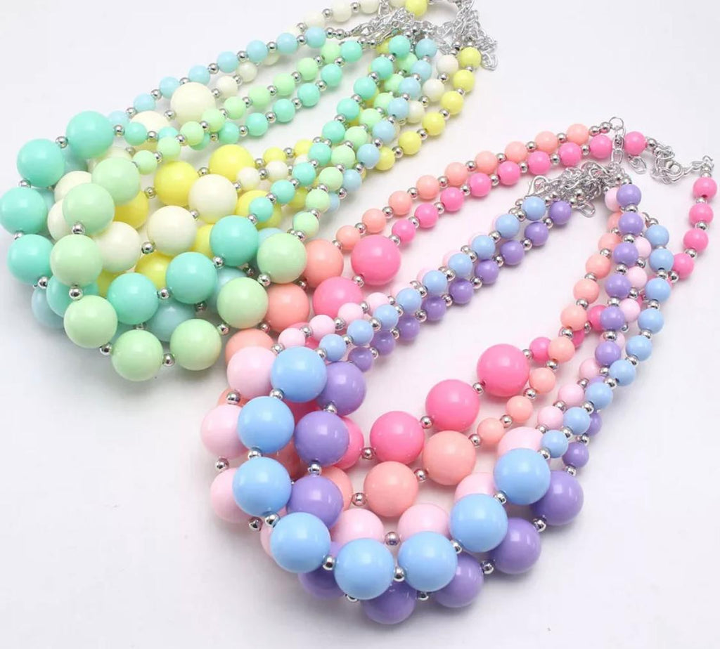 Spring Solid Chunky Necklace - many colors!