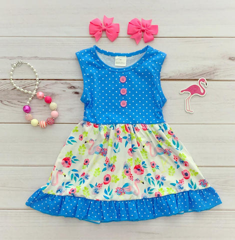 Blue Flamingle Tank Dress