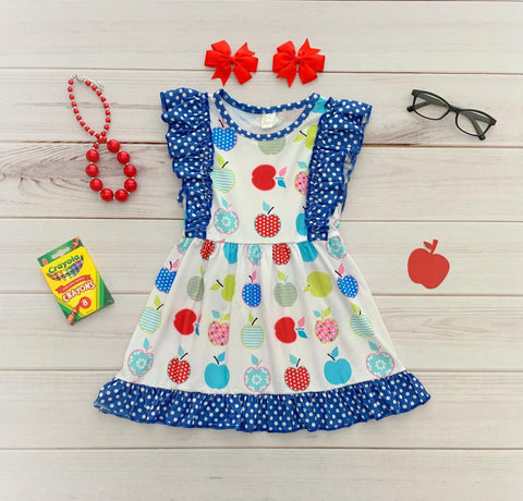 Back to School Apple Flutter Dress