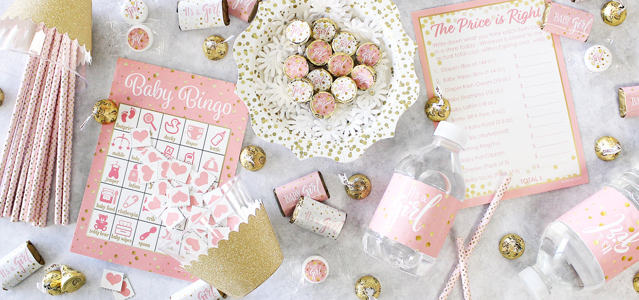 girl baby shower supplies