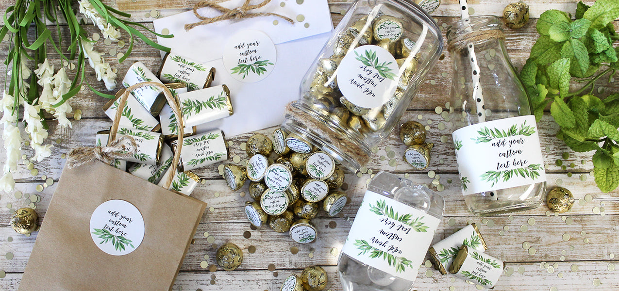 greenery bridal shower favors