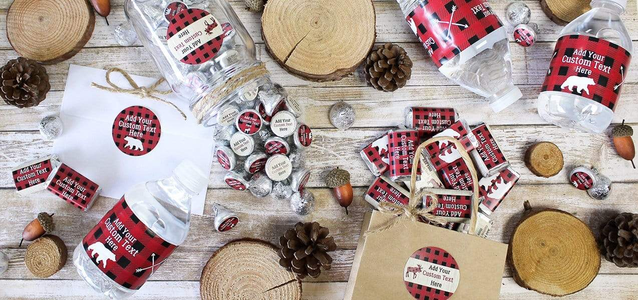 Custom Lumberjack Plaid Favors
