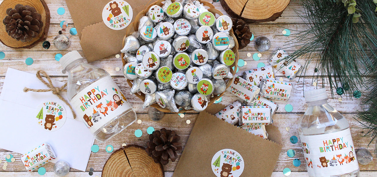 woodland animals birthday party decoration ideas