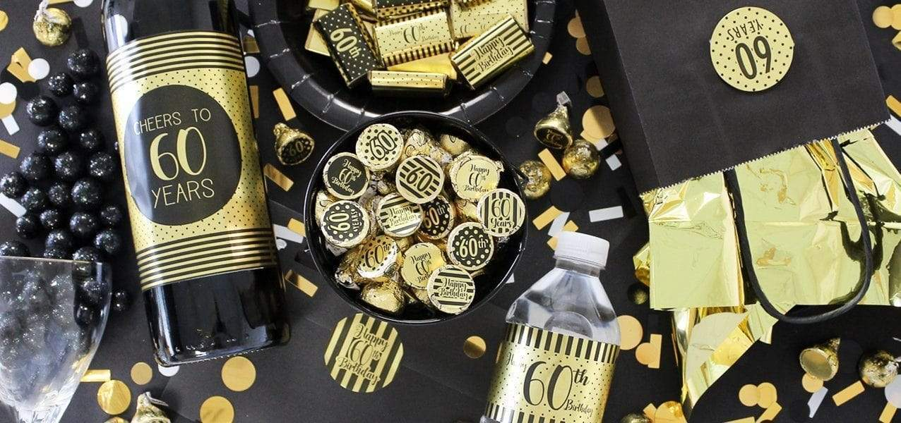 Gold Foil Birthday Party Supplies
