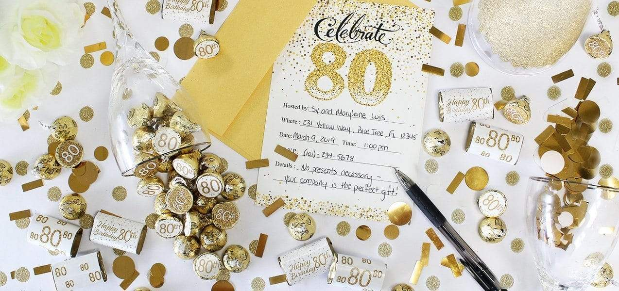 gold and white birthday party