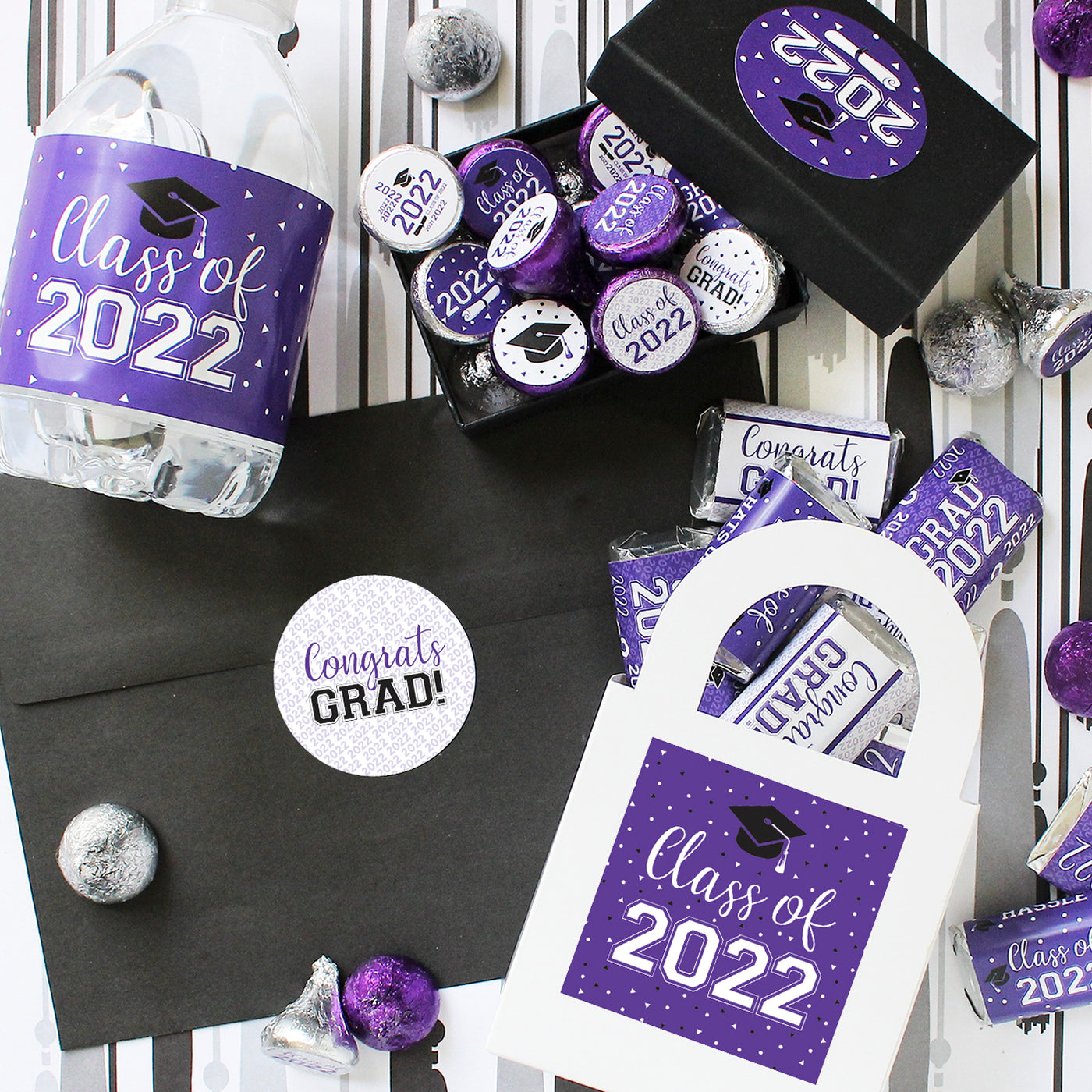 purple graduation party ideas