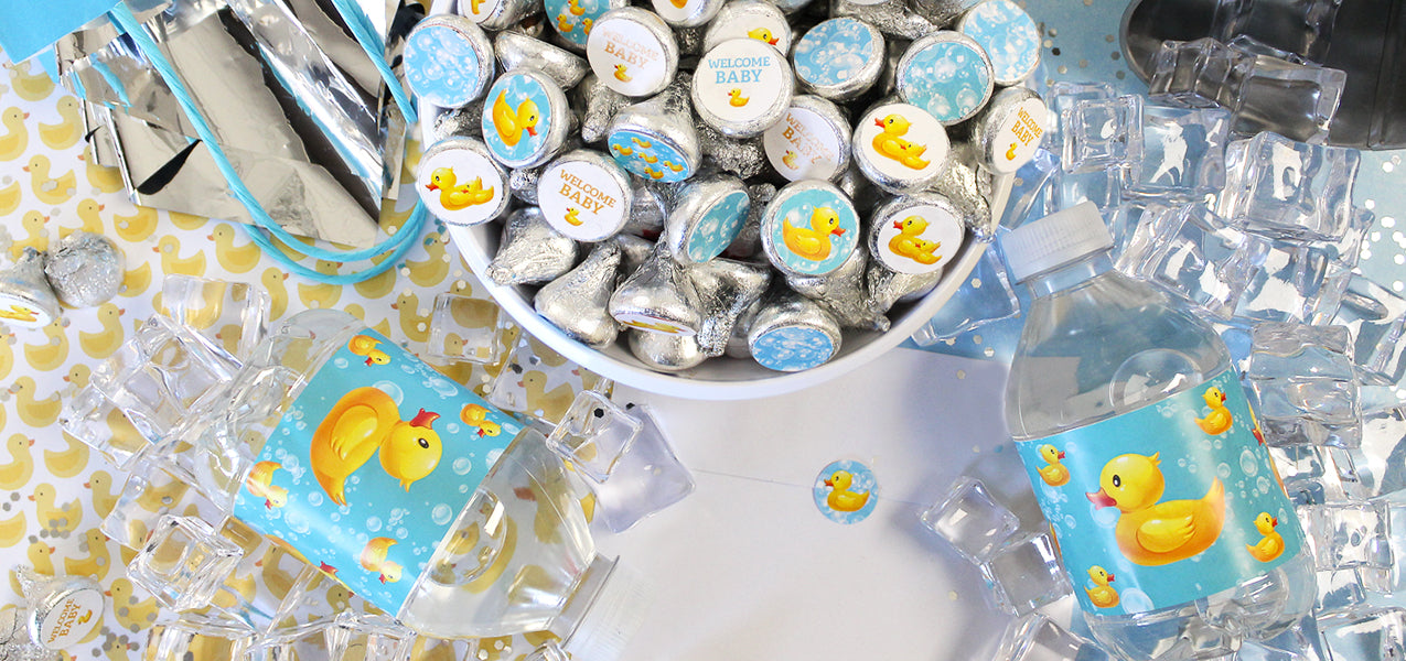 rubber duckie baby shower favors