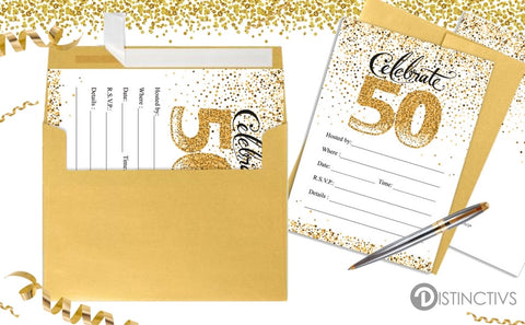 50th Wedding Anniversary Ideas for a Party | Distinctivs