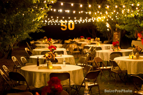 50th anniversary party ideas decorations