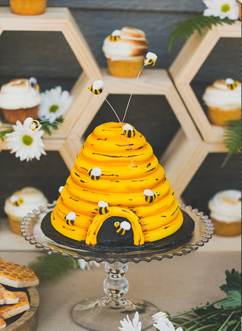 honey bee baby shower gender reveal cake ideas