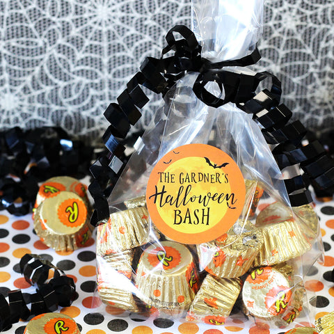 custom halloween party treat bag favor stickers