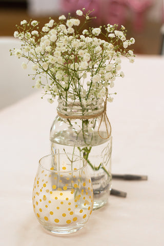 floral baby shower table centerpieces