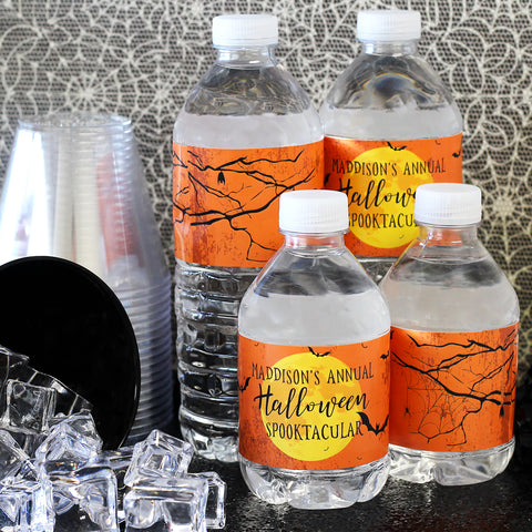 classroom halloween party ideas water bottle labels