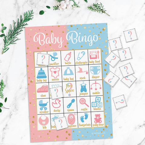 Baby Gender Reveal Party Bingo Game