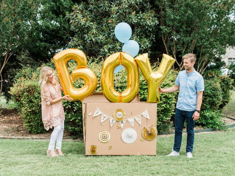 gender reveal party balloon reveal ideas