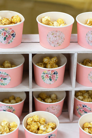 pink floral girl baby shower food ideas