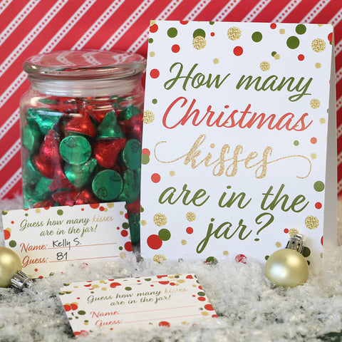 how many hershey kisses are in the jar christmas game idea