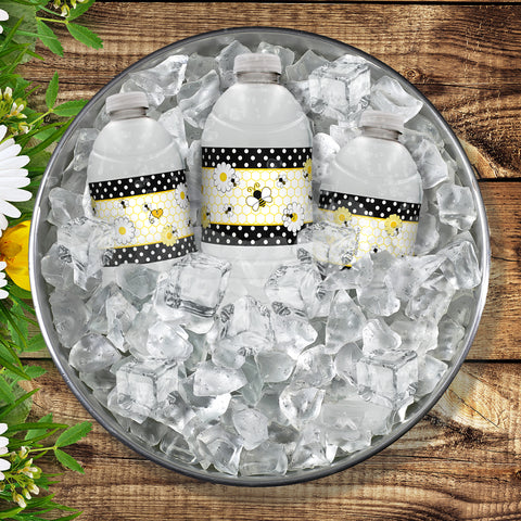 Bumble Bee Buzz ~ Water Bottle Labels ~ Birthday Party Baby Shower Supplies