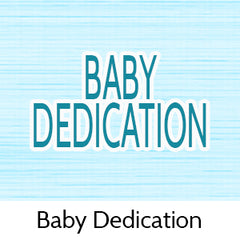 baby dedication party favors