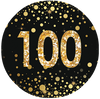 100th Birthday Black and Gold Party Supplies