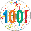 100th Birthday Colorful Party Supplies Distinctivs