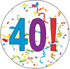 40th Birthday Colorful Party Supplies Distinctivs