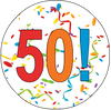 50th Birthday Colorful Party Supplies Distinctivs
