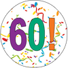60th Birthday Colorful Party Supplies Distinctivs