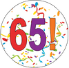 65th Birthday Colorful Party Supplies Distinctivs