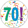 70th Birthday Colorful Party Supplies Distinctivs