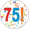 75th Birthday Colorful Party Supplies Distinctivs