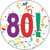 80th Birthday Colorful Party Supplies Distinctivs