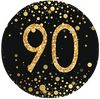 90th Birthday Black and Gold Party Supplies