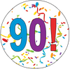 90th Birthday Colorful Party Supplies Distinctivs