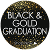 Black and Gold Class of 2017 Graduation Party Supplies