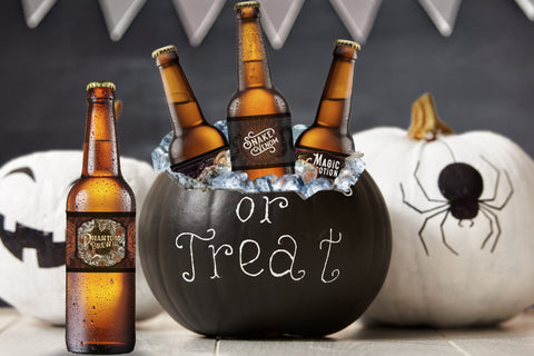 Halloween Beer Bottle Labels