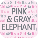 Pink and Gray Elephant Collection