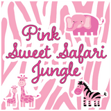 Sweet Safari Jungle Pink Baby Shower Theme