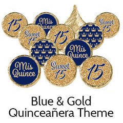 Quinceanera birthday party favors navy blue