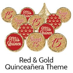 Quinceanera birthday party favors red
