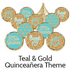 Quinceanera birthday party favors teal