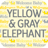 Yellow and Gray Elephant Collection