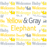 Yellow and Gray Elephants Baby Shower