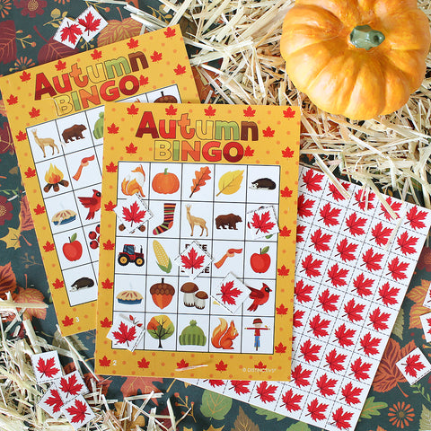 Fall Festival Game Ideas Autumn Bingo Game for Kids school
