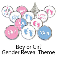 Pink Blue Gender Reveal Party Favors