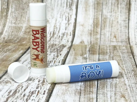 Baby shower favor idea lip balm