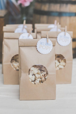 baby shower favor idea popcorn