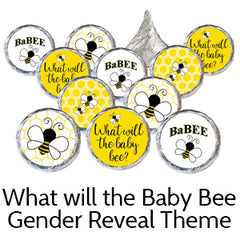bee baby gender reveal party favors