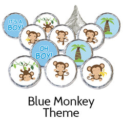 boy monkey baby shower favors