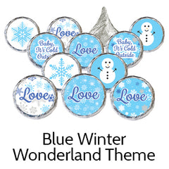 blue winter wonderland baby shower favors
